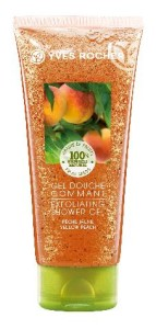 PLAISIRS NATURE Sprchovy gel s peelingem broskev YVES ROCHER