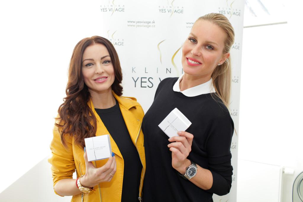 K.Kormúthová a S.Krainová sa tetia z nového Plazma Creamu vyrobeného na mieru