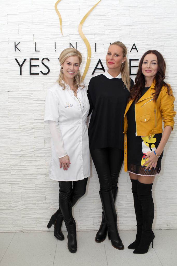Mudr.Barbora Brezová s S.Krainovou a K.Kormúthovou na Bratislavskej poboƒke YES VISAGE