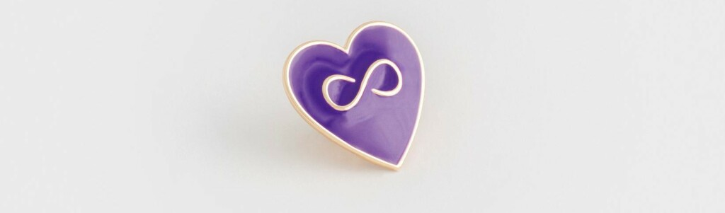 Glazúrovaný symbol Proti domácemu násiliu